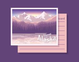 briefkaart van de illustratie van Alaska vector