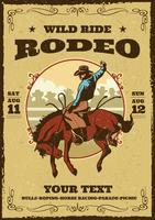 retro rodeo-flyer vector