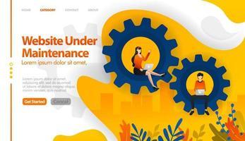 web in onderhoud, 404 niet gevonden, web in verkoop, web in reparatie vector illustratie concept kan worden gebruikt voor, bestemmingspagina, sjabloon, ui ux, web, mobiele app, poster, banner, website