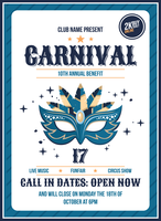 Carnaval-poster vector
