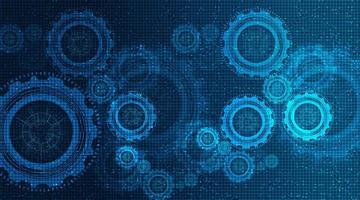 technologie versnellingen achtergrond vector