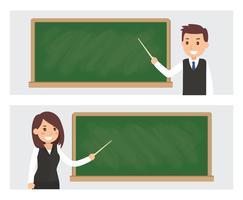 Facebook-dekking voor leerkracht vector