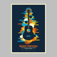 Psychedelische muziek concert poster vector