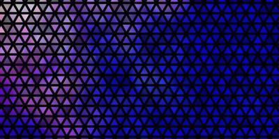 lichtroze, blauwe vectorachtergrond met driehoeken. vector
