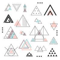 Abstracte driehoeken instellen Vector