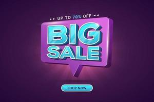 grote verkoop korting speciale aanbieding bannerkorting vector