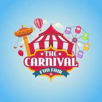 carnaval kermis ontwerp concept vectorillustratie vector