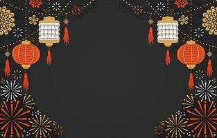 chinees nieuwjaar feest achtergrond vector
