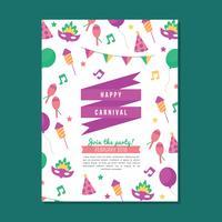 Kleurrijke carnaval-poster vector