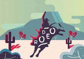 rodeo flyer vector ontwerp