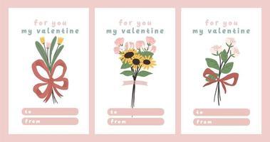 Valentijnsdag kaart toewijding nota liefdesbrief schattig Scandinavisch cartoon design