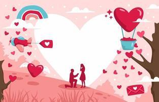 valentijn achtergrond met veel mooie harten vector