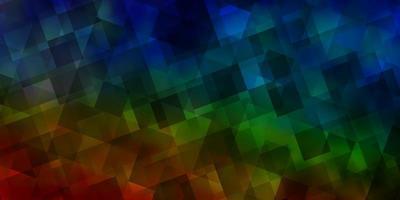 licht veelkleurige vector achtergrond met veelhoekige stijl.