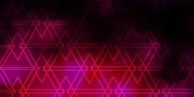 donkerroze vectorpatroon met veelhoekige stijl. vector