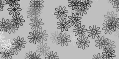 lichtgrijze vector natuurlijke achtergrond met bloemen.