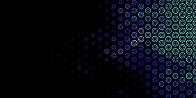 donkerroze, blauwe vectortextuur met godsdienstsymbolen. vector