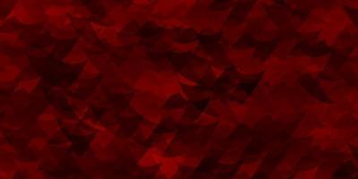 lichtrode vectorlay-out met lijnen, driehoeken. vector
