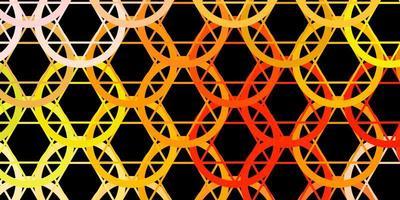 donkerroze, gele vectorachtergrond met occulte symbolen. vector