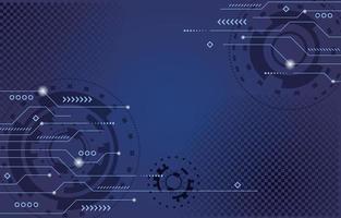 technologieconcept op blauwe achtergrond vector