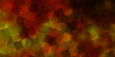 lichtgroene, gele vectorachtergrond met driehoeken, rechthoeken. vector