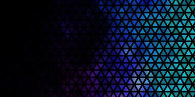 donkerroze, blauwe vectorachtergrond met driehoeken. vector