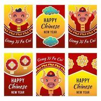 Chinese nieuwjaarskaartcollecties vector