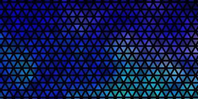 donkerroze, blauwe vectorachtergrond met veelhoekige stijl. vector
