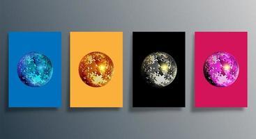 discobal in verschillende kleuren omslagset vector