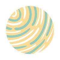 golven organische patroonblokstijl