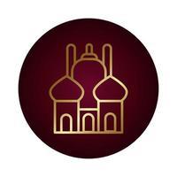 ramadam kareem tempel blok kleurovergang stijlicoon