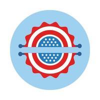 slingers met blokstijl van de Amerikaanse vlag
