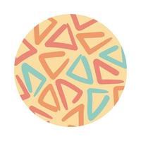 driehoeken organische patroonblokstijl