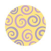 spiraalvormig organisch patroonblokstijl