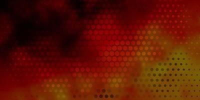 donkeroranje vector achtergrond met cirkels.