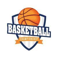 basketbaltoernooi schild met basketbal vector