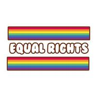 lgbtiq vlag met gelijke rechten belettering