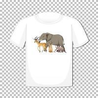 wild dierengroepsontwerp op t-shirt