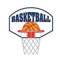 basketbal en bord pictogram vector
