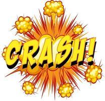 komische tekstballon met crashtekst
