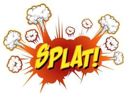 komische tekstballon met splat-tekst