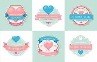 blauw en roze pastel hart label