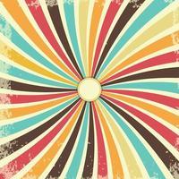 retro grunge textuur achtergrond met vintage swirly stralen vector