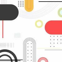 Japanse witte abstracte achtergrond en enkele zwarte en rode accenten vector
