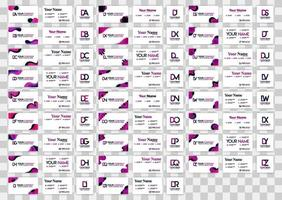 letter d logopakket met implementatie op visitekaartje. vectorillustratie kan zijn voor gedrukte online media, identificatie, financiën, industrie, document, sjabloon, flyer, web, bestemmingspagina, mobiele app vector