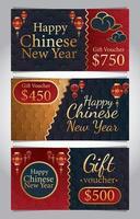 voucher gift card concept vector