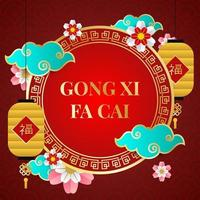 gong xi fa cai achtergrond vector