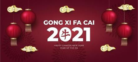gong xi fa cai 2021 achtergrond