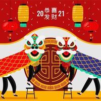 leeuwendans op nieuwjaar