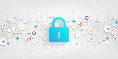 achtergrond van veilig digitaal beveiligingssysteem