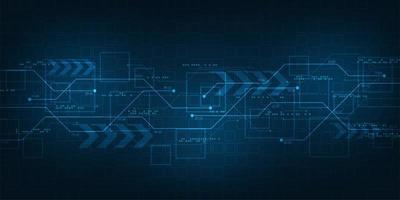 achtergrondtechnologie in het concept van digitaal ontwerp